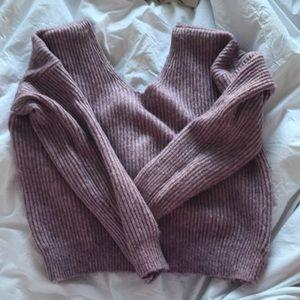 ANTHRO Lavender chunky sweater sz L